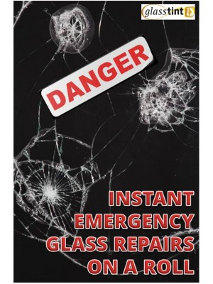 Temporary Films - Glasstop Emergency Repair Window Film - GlassTint-Direct