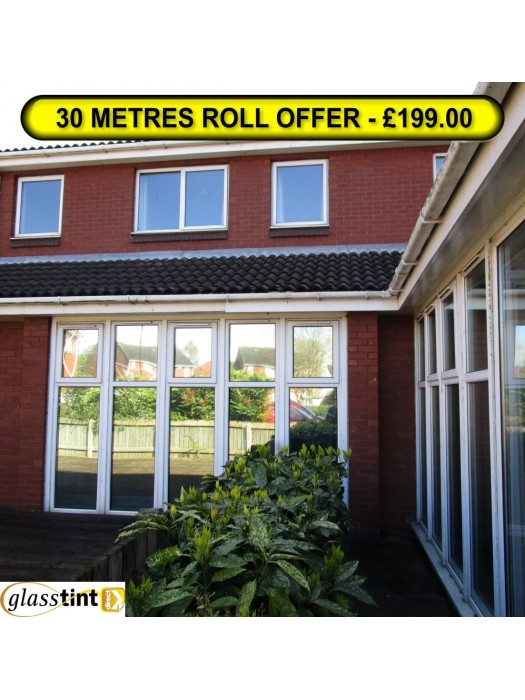 30m x 910mm Roll - HIGH REFLECTIVE SILVER FILM Special Offers GlassTint Direct -  Window Film At Discounted Prices