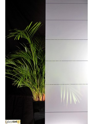 LARGE DECREASING STRIPES FROST Designer & PatternedGlassTint Direct