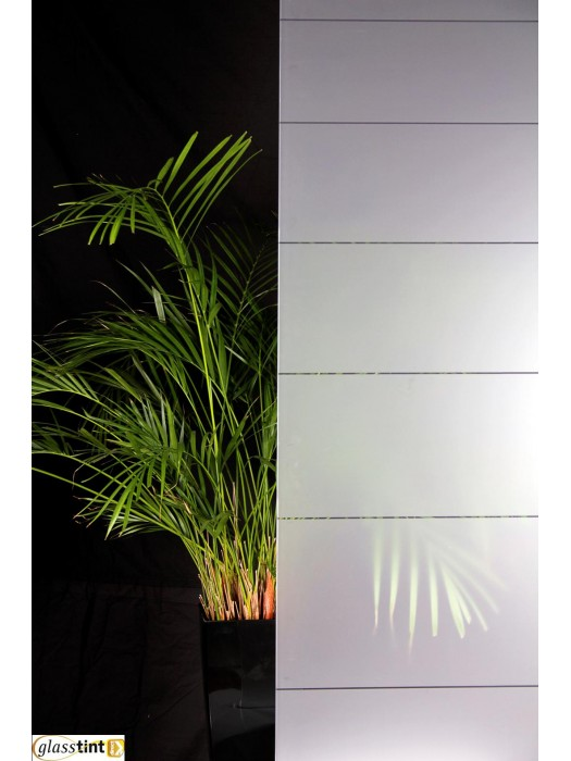 Designer & Patterned - Large Frosted Decreasing Stripes Window Film