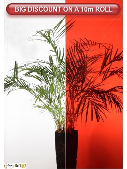 RED TINT Tinted & ColouredGlassTint Direct