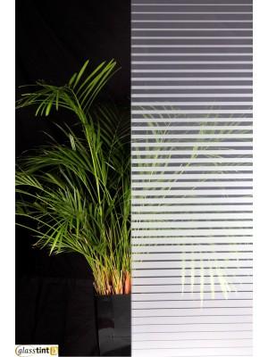 SMALL DECREASING STRIPES FROST Designer & PatternedGlassTint Direct