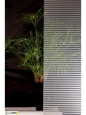 VENETIAN STRIPE FROST Designer & PatternedGlassTint Direct