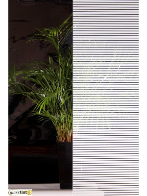 VENETIAN STRIPE WHITE Designer & PatternedGlassTint Direct
